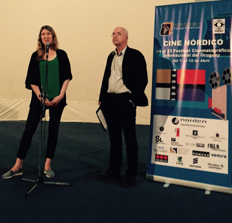 Photo: Director Karin Ekberg and Jim Larsson Founder of Cine Nordico.